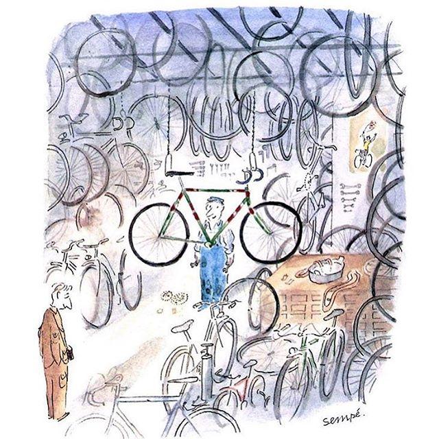 #sempé #raoultaburin #film # dessin #illustration #bicycle #