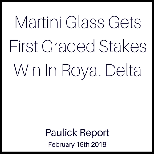 Martini Glass Gets First Graded Stakes Win In Royal Delta