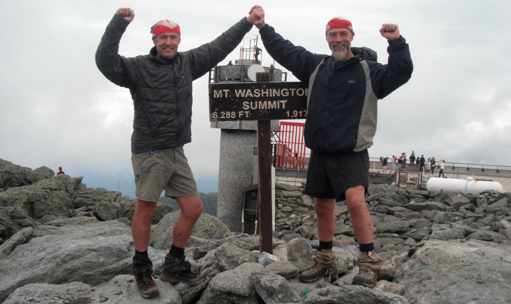 Steve and his friend at the summit of Mt Washington. We hope to get there soon!