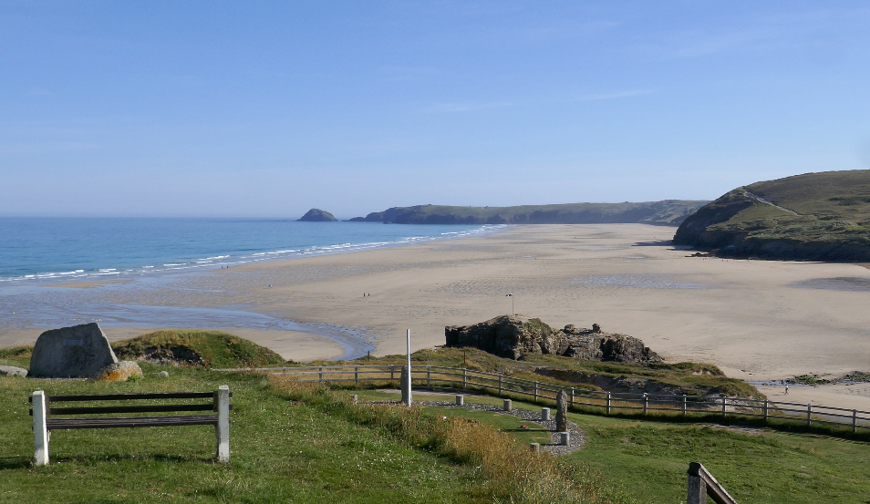 Beautiful beaches in the south of England -