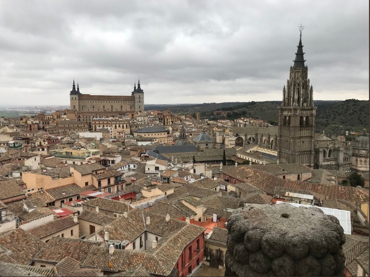 View from the top of one of Toledo's churches