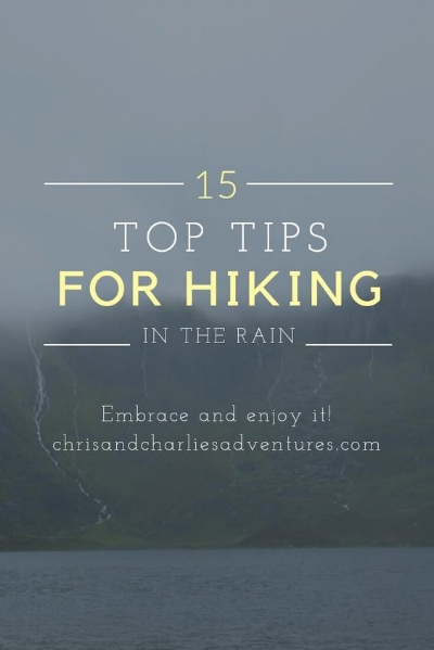 How to keep yourself and your belongings dry when hiking in the rain.