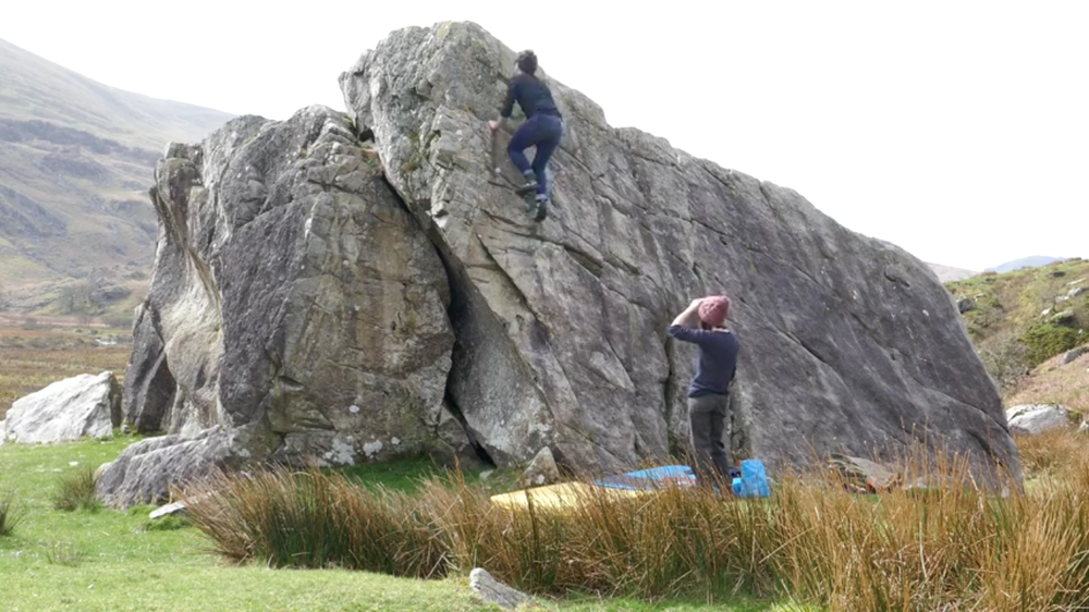Bouldering outdoors for the first time
