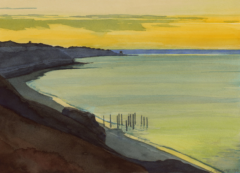 Evening Calm Port Willunga by Lesley Redgate