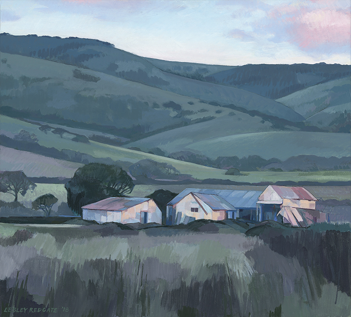 Twilight on Just's Barn by Lesley Redgate