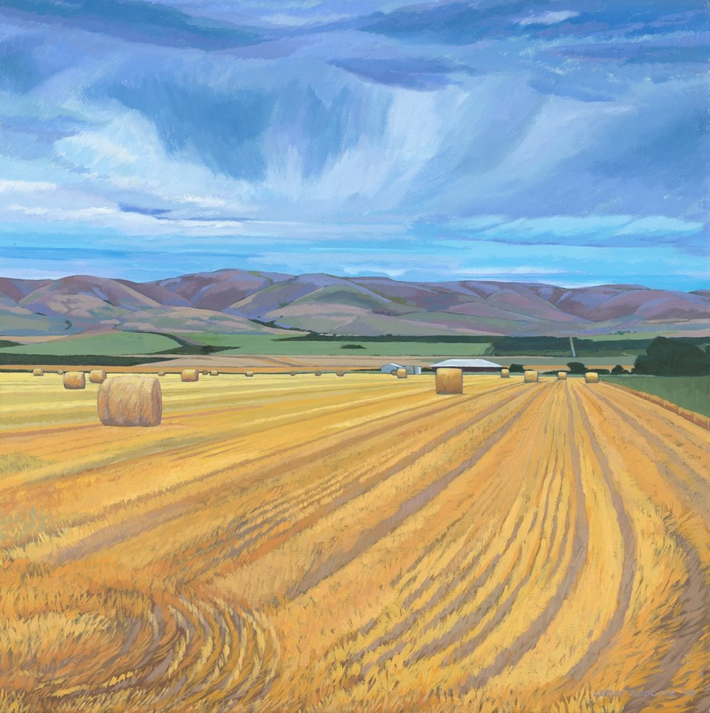 Haybales by Lesley Redgate