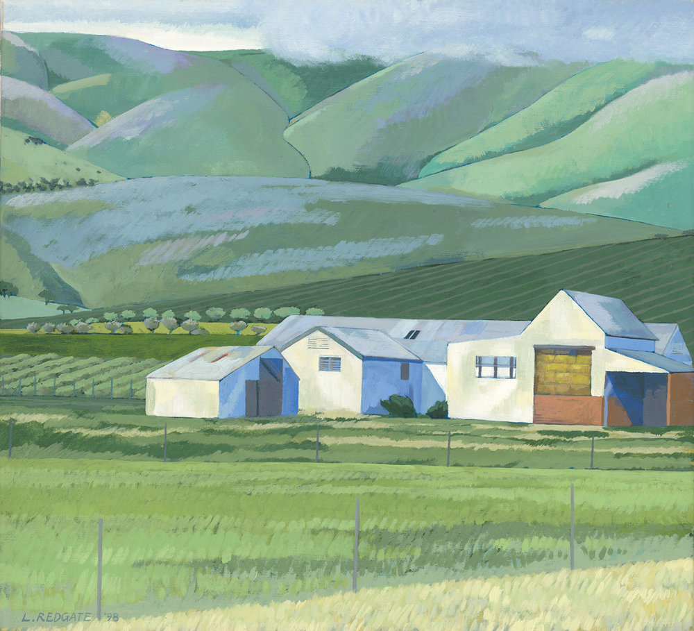 Old Dairy - Implement Sheds by Lesley Redgate