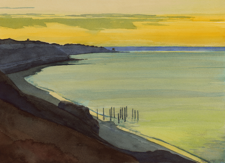 EVENING CALM, PORT WILLUNGA by Lesley Redgate ©