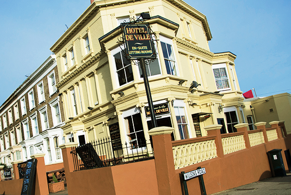 The Hotel De Ville - A friendly pub in Ramsgate offering great value accommodation45 Grange Road, Ramsgate, CT11 9LRTel: 01843 592 289hoteldeville@thorleytaverns.co.ukwww.thehoteldeville.co.ukCask Ales | Live Sport | Live Music | Rooms