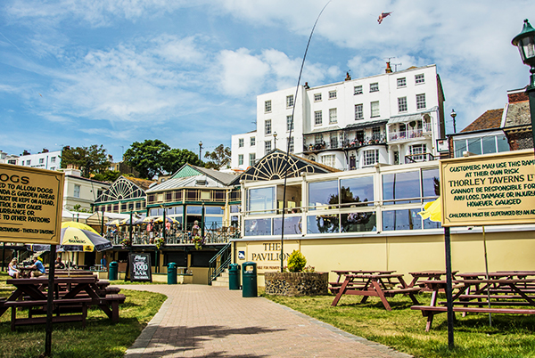 THE BROADSTAIRS PAVILION - A fantastic function venue with direct access onto Broadstairs' Viking Bay. Open for coffee, food & drink all year round.Harbour St, Broadstairs CT10 1EUTel: 01843 600 999pavilion@thorleytaverns.co.ukwww.pavilion-broadstairs.co.ukFood Served | Cask Ales | Live Music | Wheelchair Access