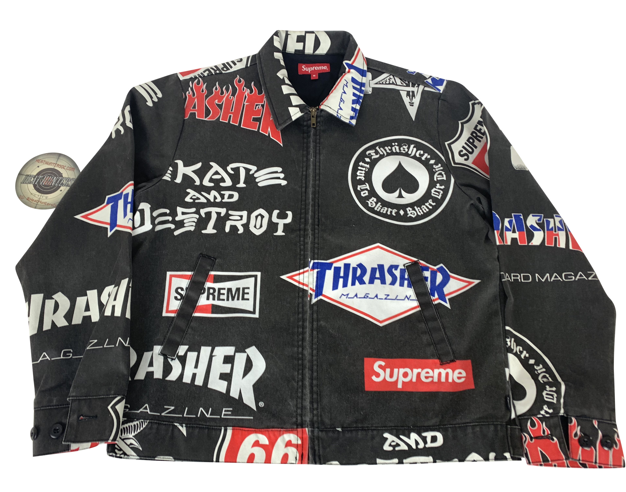 b711fefc9ec Supreme x Thrasher Jacket Medium — Heat Hunters