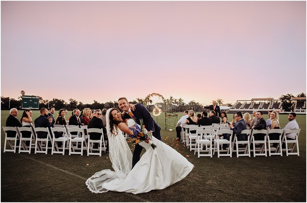 Bride Groom Just Married International Polo Club