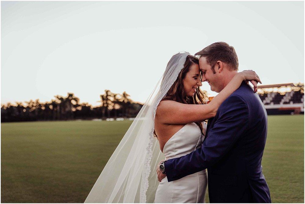 bride groom portrait international polo club palm beach