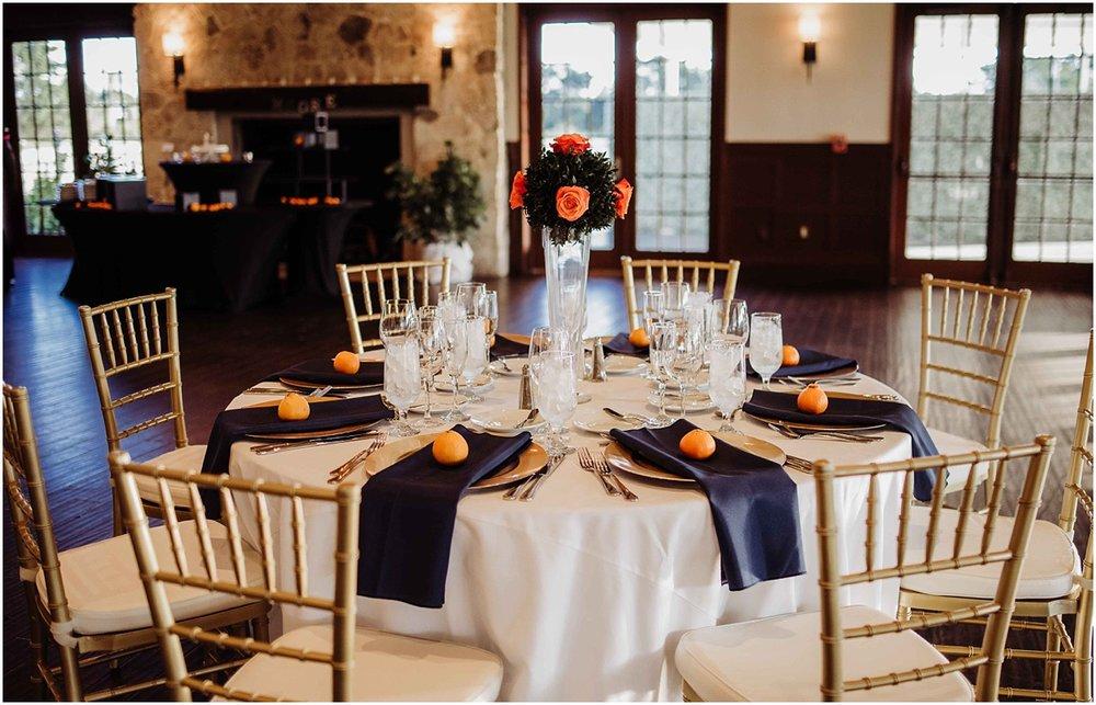 international polo club palm beach wedding table setting