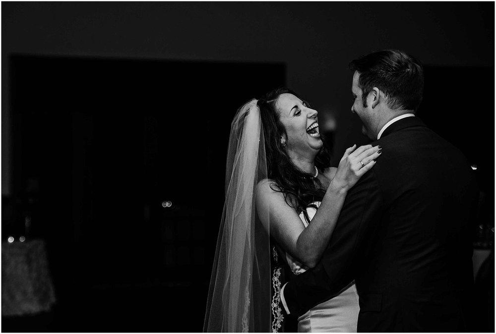 international polo club wedding first dance bride laugh