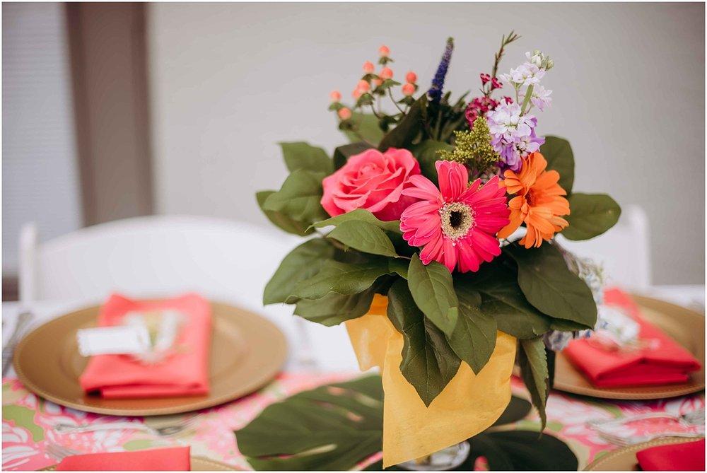 Bridal Shower table flowers