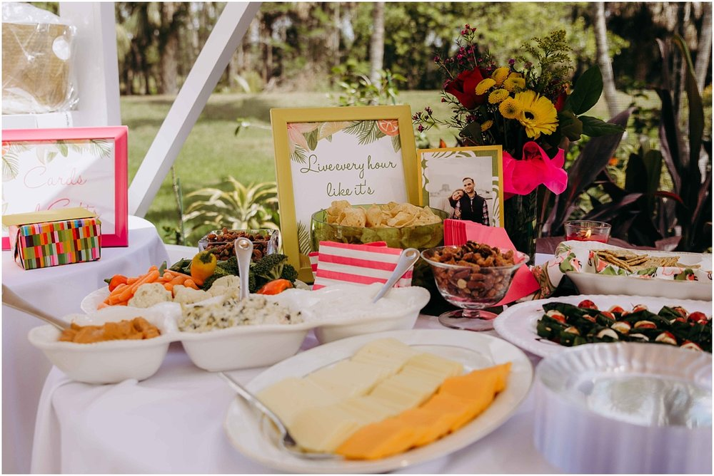 Lilly Pulitzer Bridal Shower Food table