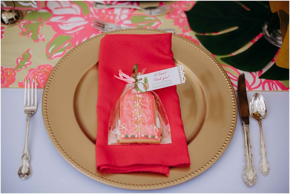 Lilly Pulitzer Palm Beach Bakery Cookies and Table Setting