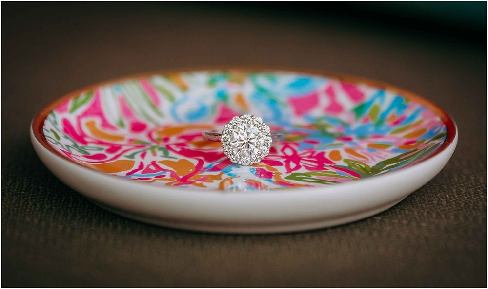 Lilly Pulitzer Ring Tray and Engagement Ring