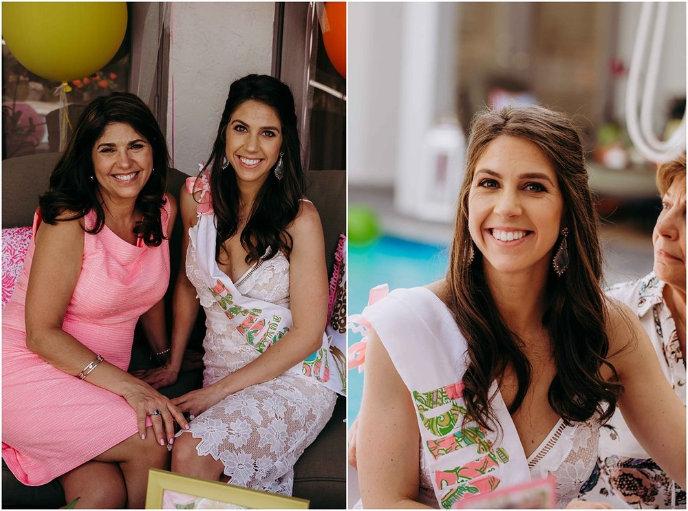 Lilly Pulitzer Bride and Mother of the Bride smiling