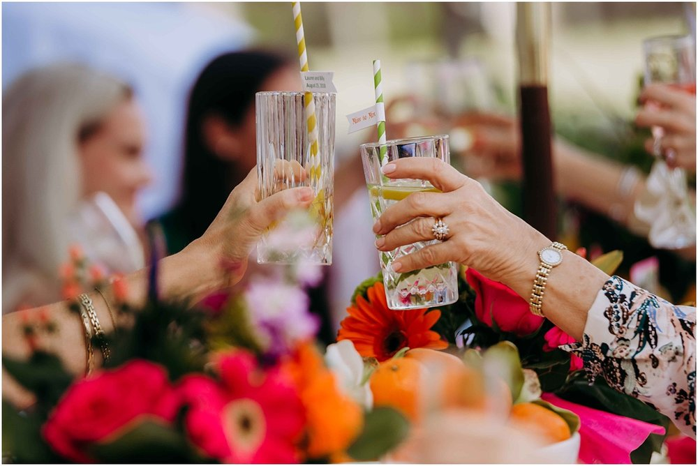 Bridal Shower Champagne Glass Toast