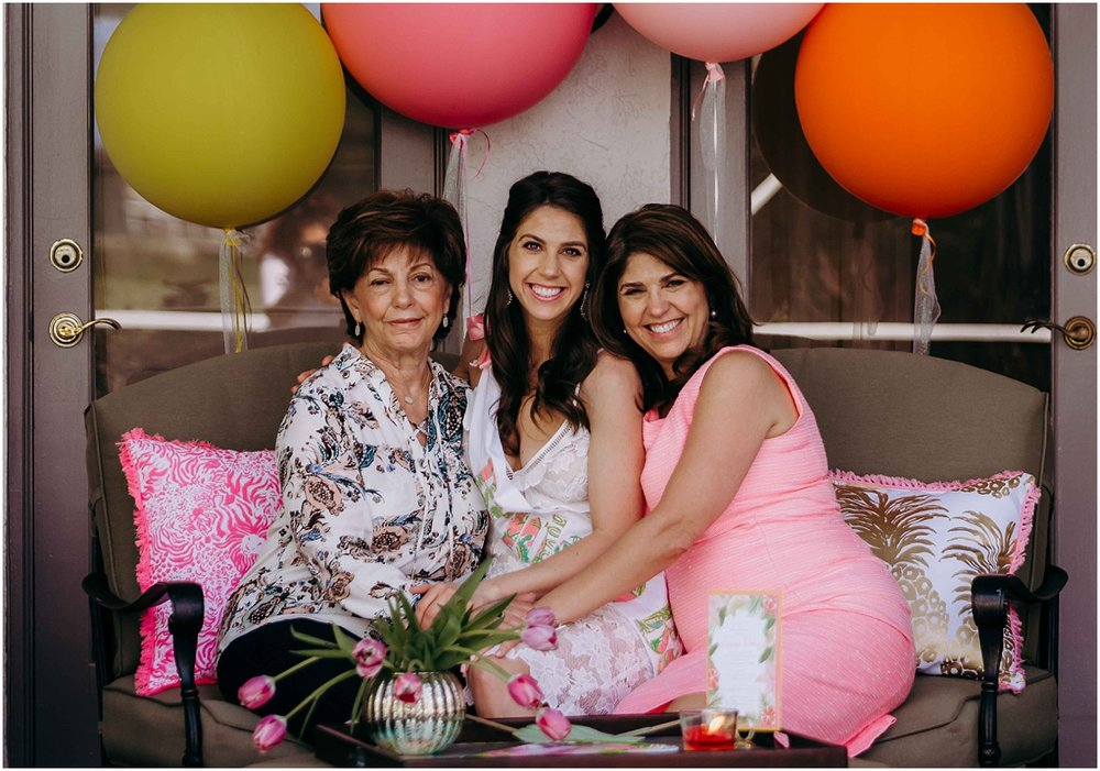 Lilly Pulitzer Bride with guests