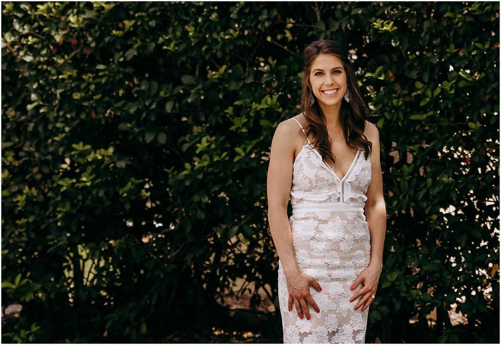 Lilly Pulitzer Bride to be smiling