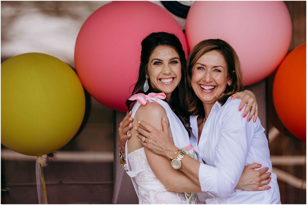 Lilly Pulitzer Bridal shower bride and host