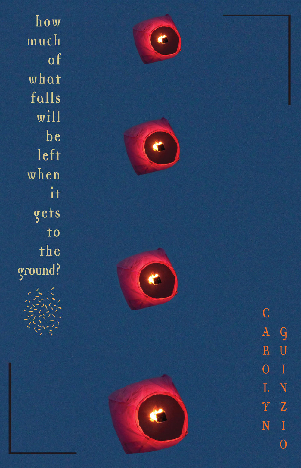"How Much Of What Falls Will Be Left When It Gets To The Ground?poetry by Carolyn Guinzio - Release Date September 25th, 2018""In this book Carolyn Guinzio creates a world out of elements far beyond language on a page. Maps, photos, collage, typographical art, all intertwine as poetry of breathtaking freshnessnes and depth. This hybrid work is a beautiful exploration of the meaning of place, both present and past. *How Much of What Falls Will Be Left When It Gets To The Ground?* is a wildly layered memory book that demands to be returned to again and again.""Jacob Shores-Arguello, author of Paraíso"