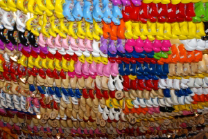 Colourful Clog display in Amsterdam