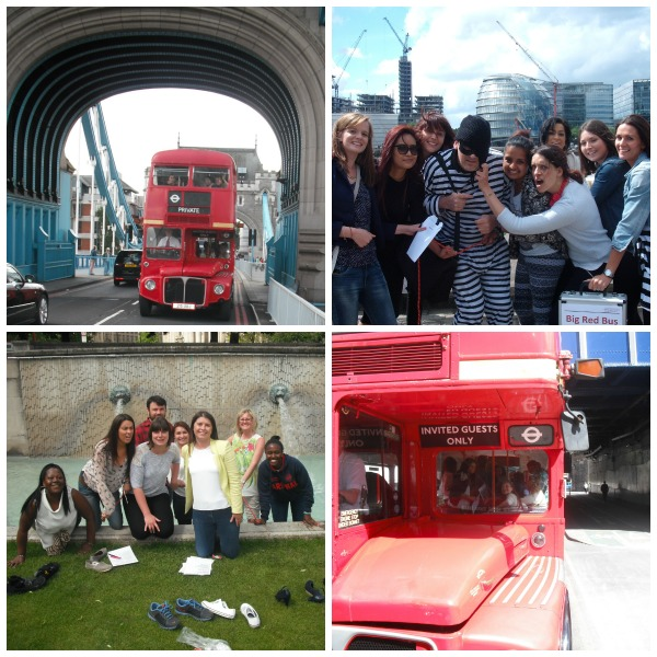 Teams compete in a treasure hunt in London, using Red Buses to navigate from location to location!