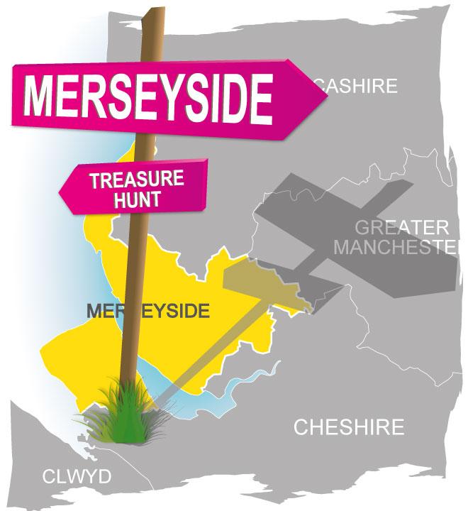 treasure hunt Merseyside