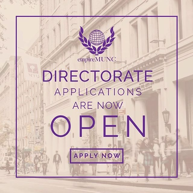 👩🏽‍⚖️👨🏻‍⚖️Being part of this conference's Directorate could be one of the most rewarding experiences in your life. You can be the one to shape the #RoadtoVIctory at EmpireMUNC VI. Apply now! https://bit.ly/2TqVwTP
