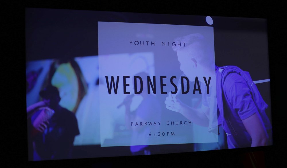 Wednesday Night - Youth Night - Youth Night is a high energy night where the whole youth group, middle and high school, comes together to worship with a worship band of their peers and youth leaders and hear a message from Pastor Alex. Following the message there is free time and food.Doors open at 5:45 PM.