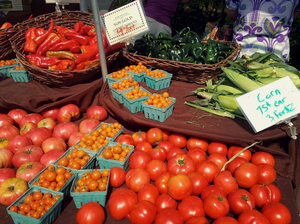 Downtown farmer's market  - the freshest delights of the season