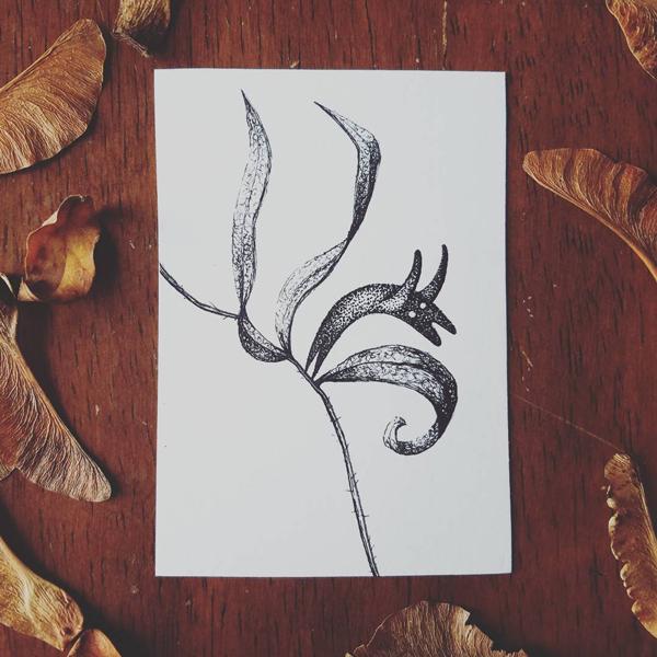 Inktober-Leaf