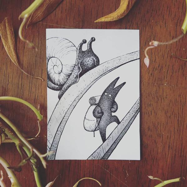 Inktober-Snail
