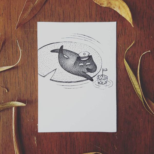 Inktober-Lily Pad