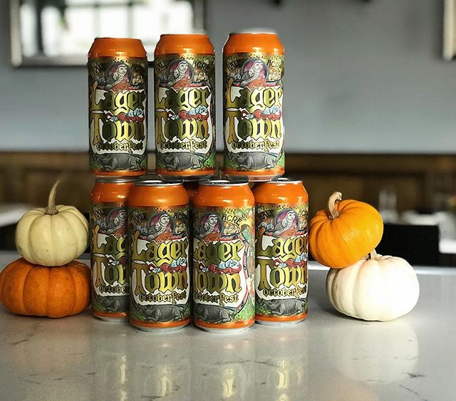 @halfacrebeer Lager Town Oktoberfest now available! Limited quantity - so act fast. This can is sure to give you all the fall feels. Happy Hour 4:30-6:30 PM Dinner 5-10 PM