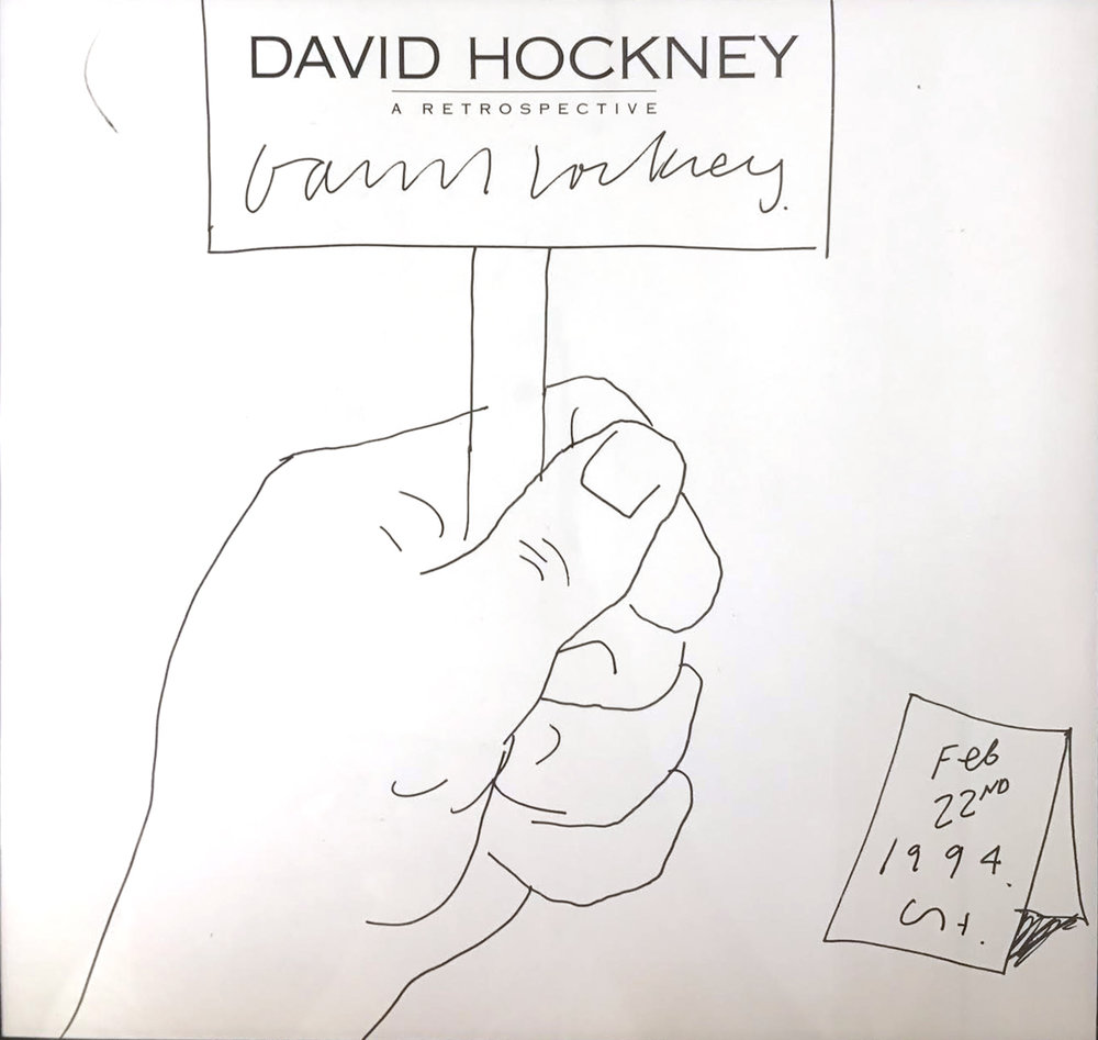 "David Hockney, Untitled, 1988, ink on paper, 38"" x 21"", courtesy of private collector"