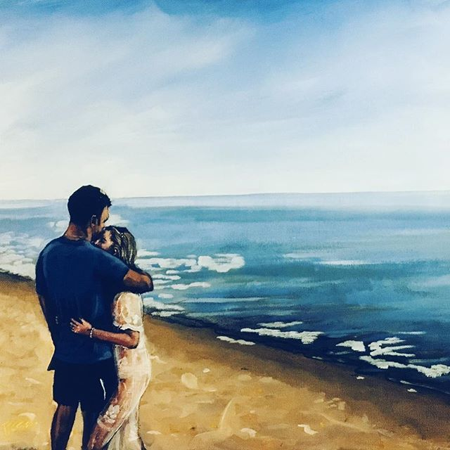 Finished and delivered - and what a pleasure to paint this happy couple 🙂 #artistsoninstagram #wedding #dubai thanks @turnerkatie @rachbrunt