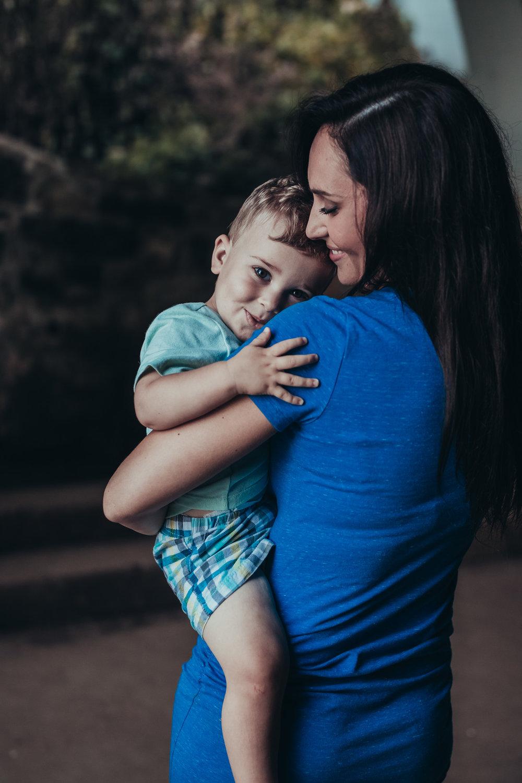 mom adoring her son
