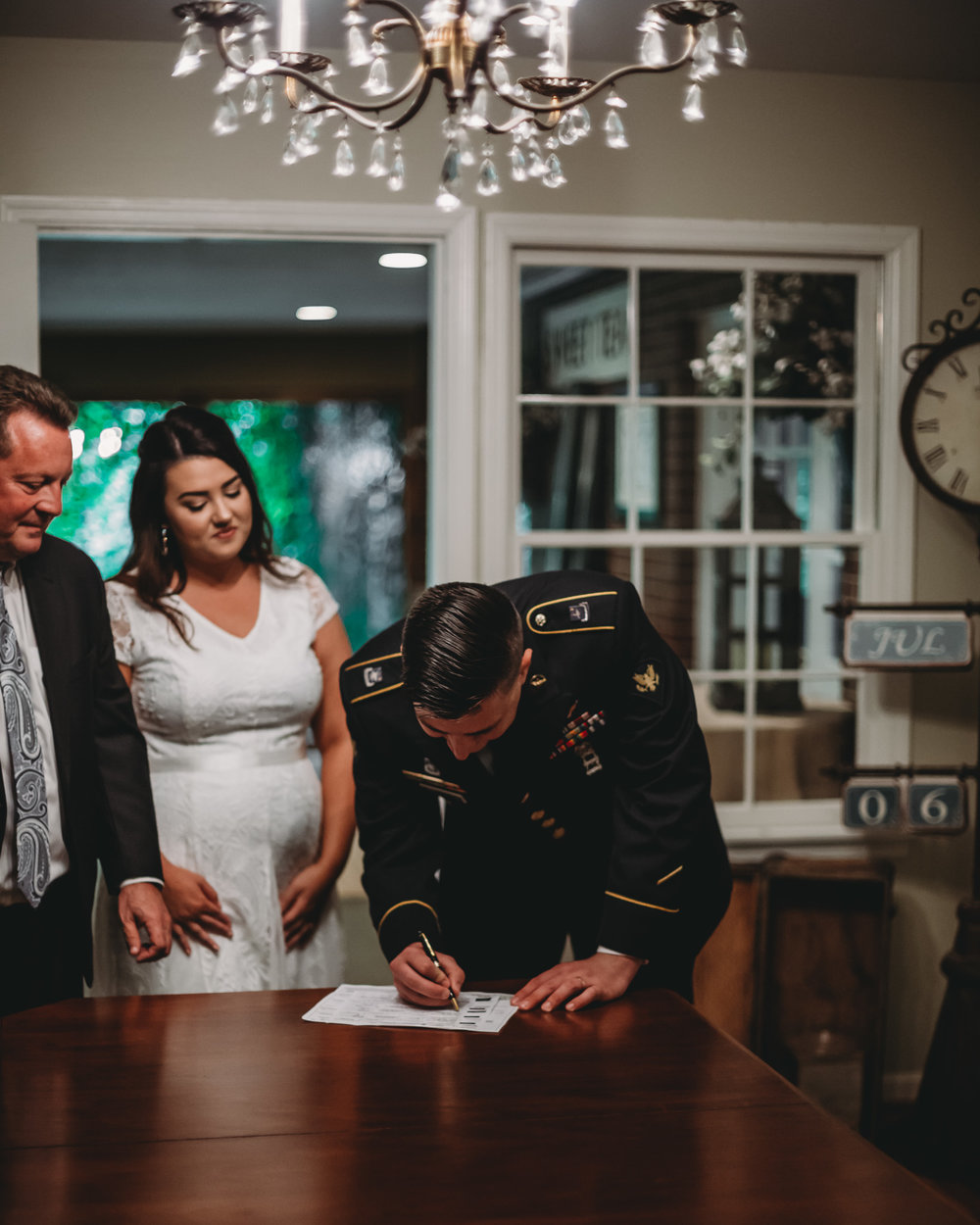 signing wedding documents
