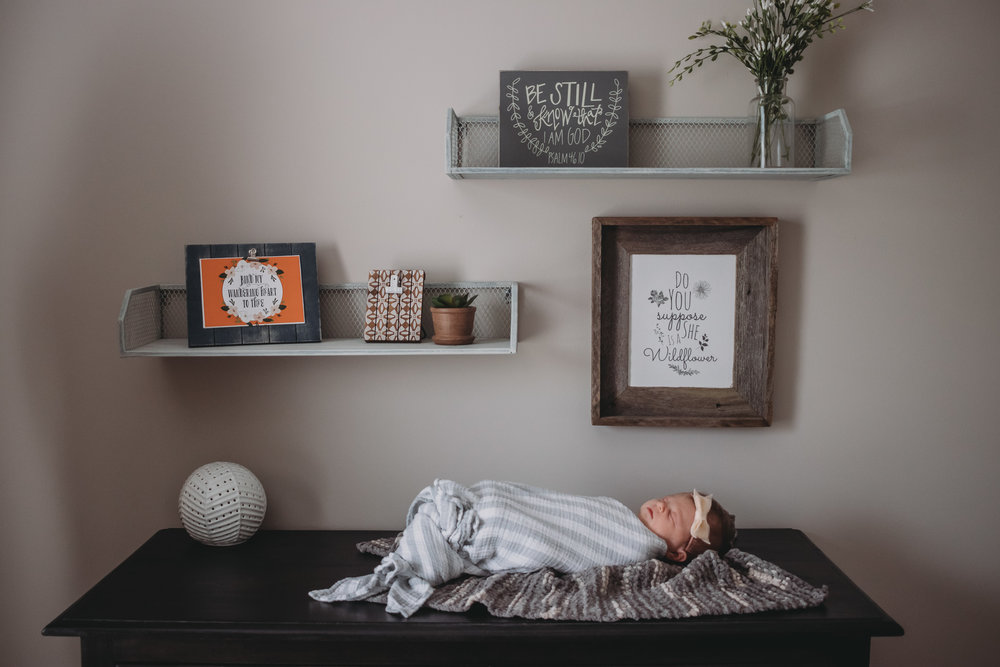 newborn baby girl one nursery dresser