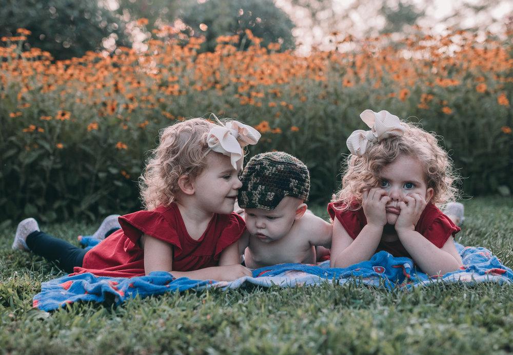 three kids under four