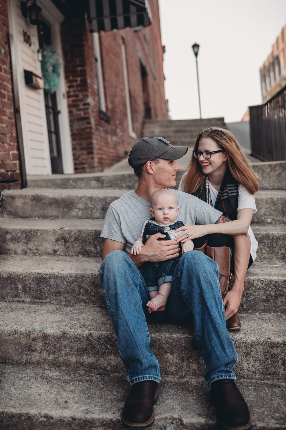 Family downtown Clarksville