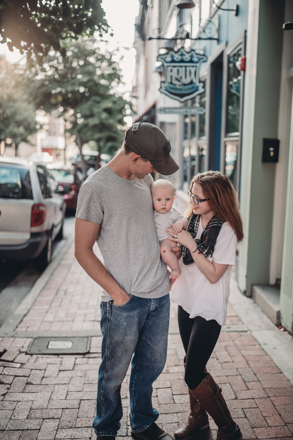 family photos downtown Clarksville