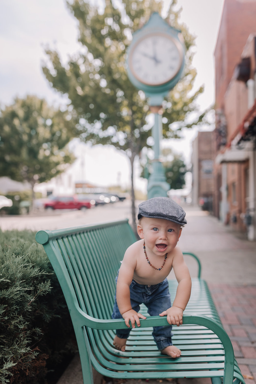 baby in fedora downtown