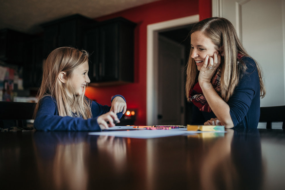 little girl writing deployed daddy a letter