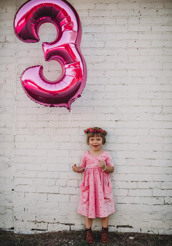 three year old girl birthday
